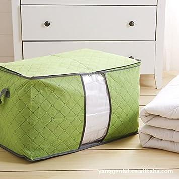 Amazon.com: Amaonm Jumbo Blanket Storage Bags With Zipper ... : quilt storage bags - Adamdwight.com