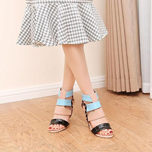 Femmes Talon Stiletto Peep Toe Gladiateur Strappy Talons Hauts Parti Mariage Prom Sandales Chaussures Taille Pink u1YFECWUP