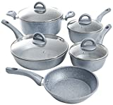 oster cooking set - Oster Havendale 9 Piece Non-Stick Cookware Set, Aluminum