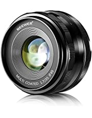 NEEWER 35mm F/1.7 Large Aperture Manual Prime Fixed Lens APS-C for Sony E-Mount Digital Mirrorless Cameras A7III A9 NEX 3 3N 5 NEX 5T NEX 5R NEX 6 7 A5000 A5100 A6000 A6100 A6300 A6400 A6500