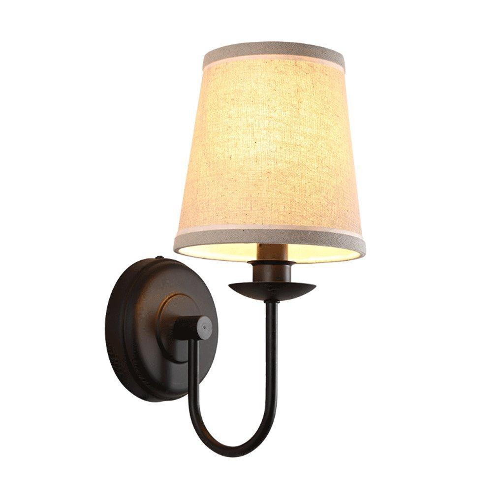 Unbekannt GJ Eisen Kunst Wandleuchte Wohnzimmer Schlafzimmer Nachttisch Lampe lösen Wandlampe warme Stoff Wandleuchte GJV
