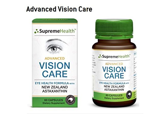 New Zealand supremehealth Advanced Vision Care 60 capsules eye healthy formula Astaxanthin from supremehealth