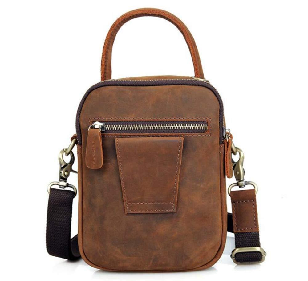Sxuefang Mens Shoulder Bag Mens Messenger Bag Leather Mens Small Shoulder Bag Simple Mens Shoulder Bag 20x6.5x16.5cm