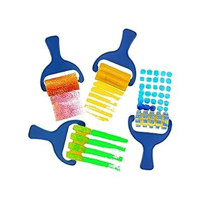 Zhi Jin 4Pcs Paint Roller Set Foam Painting Brushes Sponge Rollers Painters Handle Kit