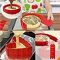 JINSEY Nonstick 4PCS Silicone Cake Mold Cake Pan Magic Bake Snake DIY Baking Mould Tools - Design Your Cakes Any Shape