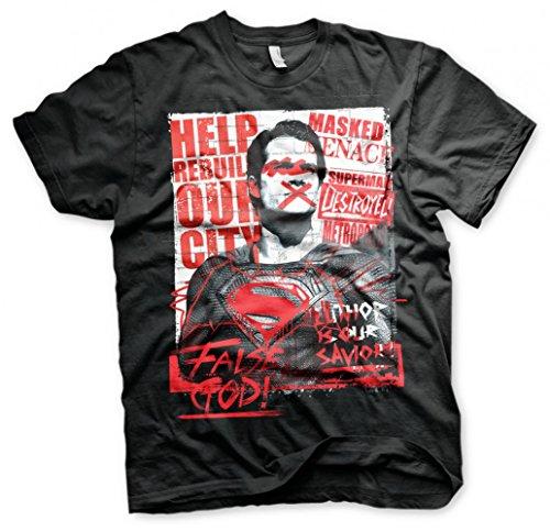Batman vs. Superman Original T-Shirt Luthor Schwarz 100% Baumwolle