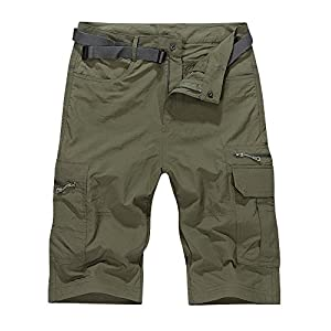 OCHENTA Men's Outdoor Water-resistant Quick Dry Cargo Shorts