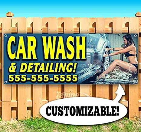 AUTO DETAILING NOW OPEN Advertising Vinyl Banner Flag Sign Many Sizes