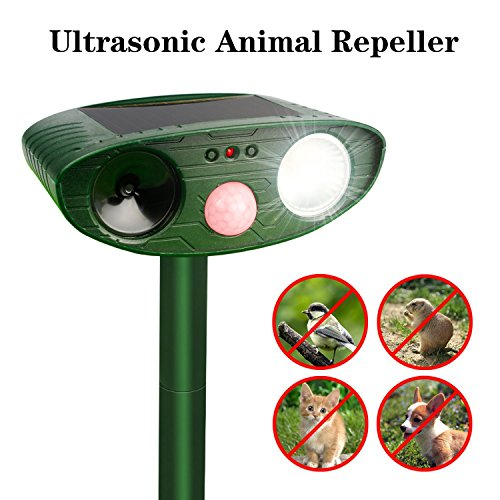 Moontak Cat Dog Squirrel Animal Repellent Outdoor Ultrasonic,Solar Deer Bird Fox Rat Mace Dog Cat Animal Repellent Repeller - Bird Repeller Solar