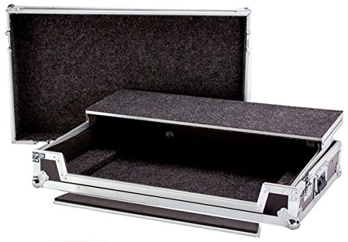 (Superb Quality Fly-drive Case For 1 Mixer Cd Player Laptop  Engineered To Hold Turntables, Mixer, Cd Players Or Others With The Table On Top Internal Midway Equipment Shelf DEEJAY LED TBHDDJRZWLT)
