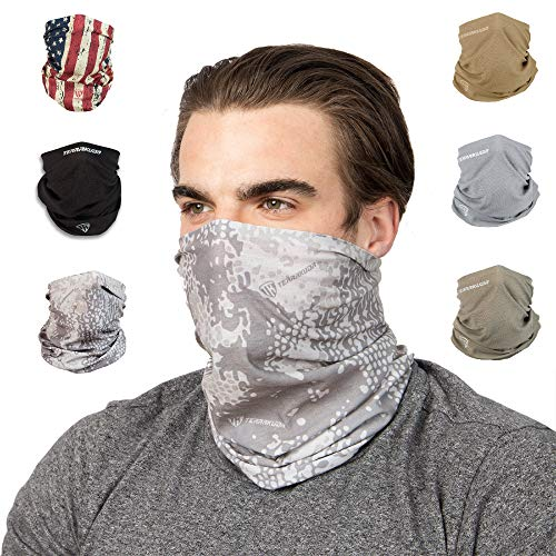 Terra Kuda Face Clothing Neck Gaiter Mask - Non Slip Light Breathable for Sun Wind Dust Bandana Balaclava (Tundra Camo) (Best Lawn Mowing Patterns)