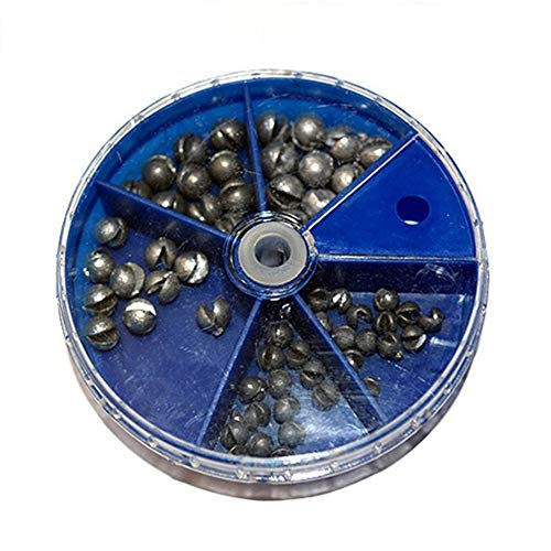 Silver ARSUTE Split Shot Dispenser Fishing Weights Lead Soft Sinker Float Tackle Tool