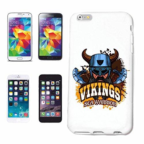 caja del teléfono iPhone 6+ Plus VIKING ESCANDINAVIA NORDIK VIKINGS VIKINGS WIKI CRÁNEO del casco de Viking Caso duro de la cubierta Teléfono Cubiertas cubierta para el Apple iPhone en blanco