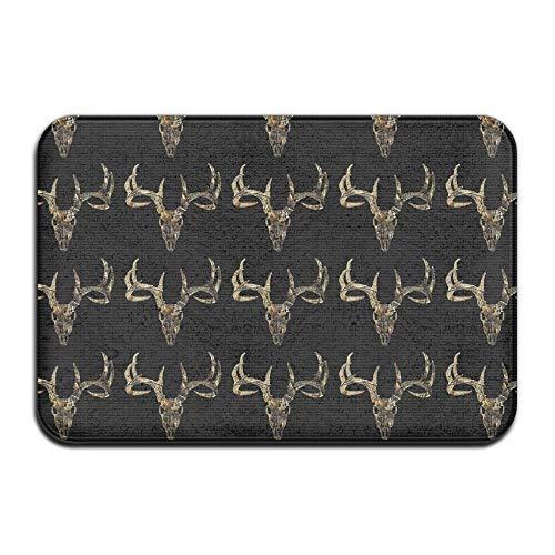 YiNuo Soft Non-Slip Deer Hunting - Deer Head Camoflauge Deer Bath Mat Coral Fleece Area Rug Door Mat Entrance Rug Floor Mats