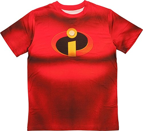 Disney The Incredibles Incredable Bod Mens Red T-Shirt | (The Incredables)