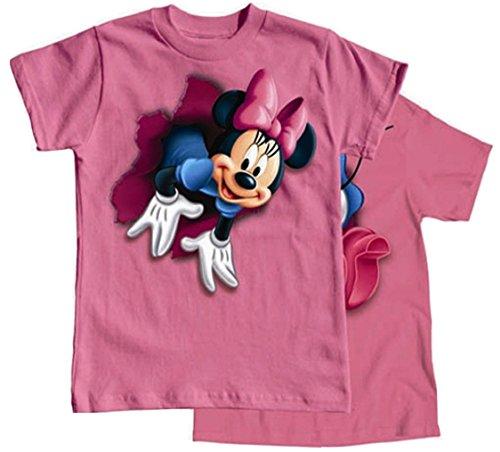 UPC 702730002308, Disney Girls T Shirt Pop Out Minnie, Pink X-Small 4/5