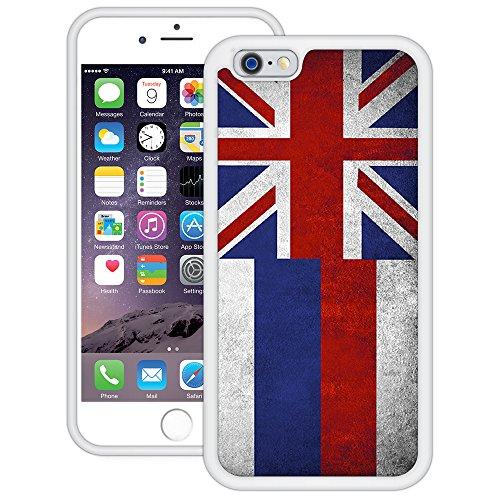 Hawaiische Flagge | Handgefertigt | iPhone 6 6s (4,7') | Weiß TPU Hülle