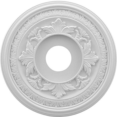 Ekena Millwork CMP16BA Baltimore Medallion Thermoformed Pvc Ceiling, 16' OD x 3 1/2' ID x 1' P, White