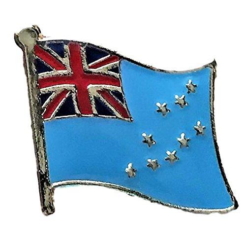 "Backwoods Barnaby Tuvalu Flag Lapel Pin (0.75"" x 0.75"")"