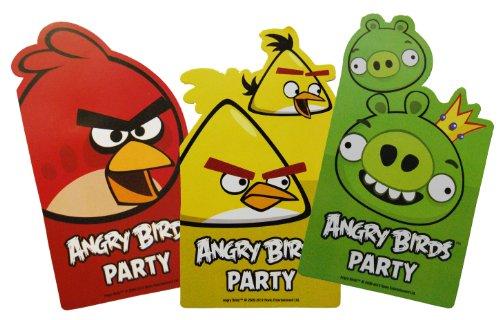 6 Einladungskarten Angry Birds Inkl Versandumschlag Amazon De
