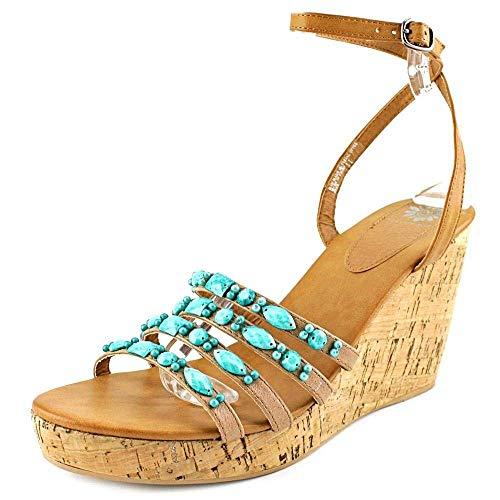 (Yellow Box Kerr Open Toe Synthetic Wedge Sandal, Turquoise, Size 10.0)