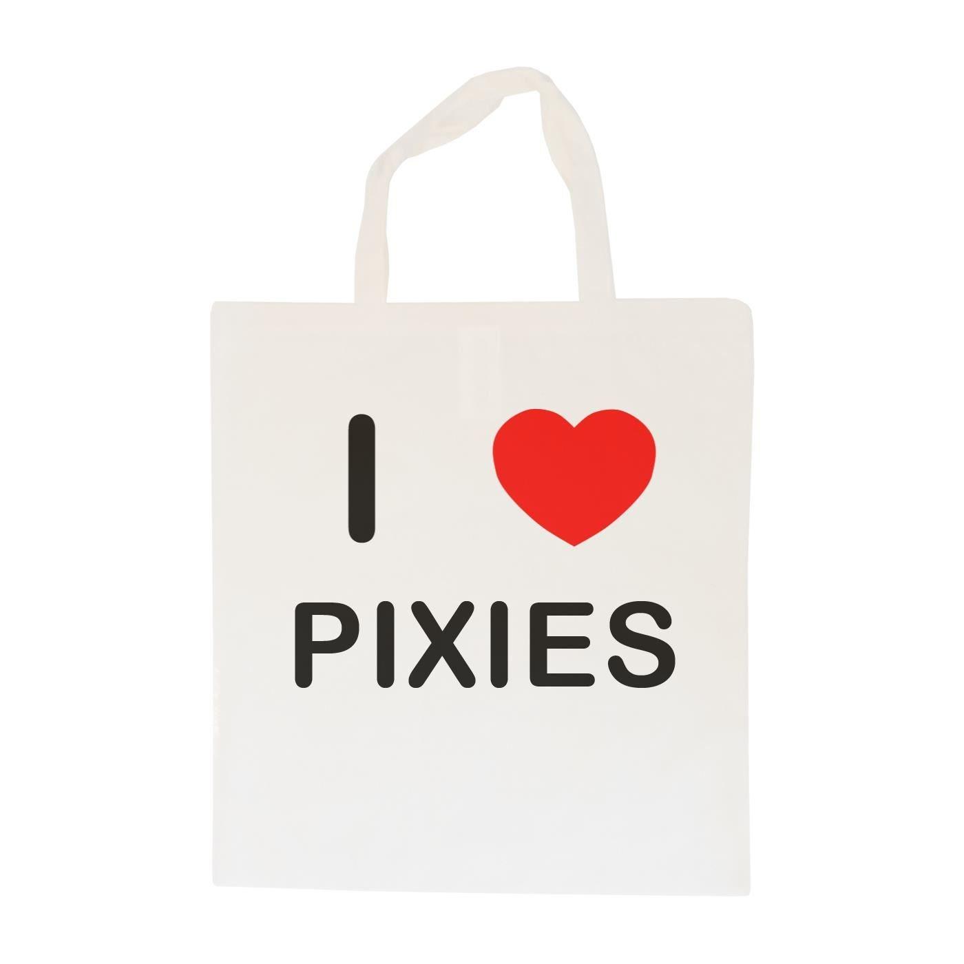I Love Pixies Cotton Tote Bag