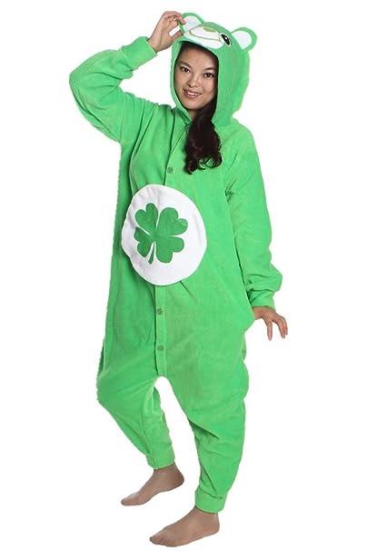 9748bca8c7 wotogold Animal traje de cosplay Trébol de cuatro hojas del oso Onesies  Hombre Mujer Unisex Piyama adultos Pijamas Green  Amazon.es  Ropa y  accesorios