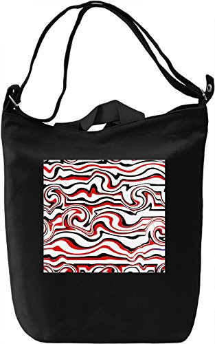 Waves Graphic Work Pattern Borsa Giornaliera Canvas Canvas Day Bag| 100% Premium Cotton Canvas| DTG Printing|