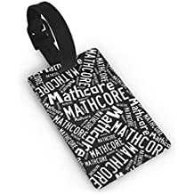 X-JUSEN Mathcore PVC Luggage Tags, Travel ID Suitcase Accessories