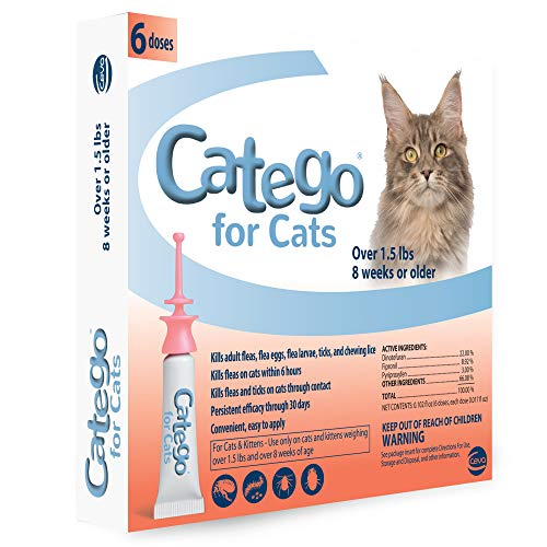 Catego Flea and Tick Control for Cats (6 Pack), 1.5 lb/One Size