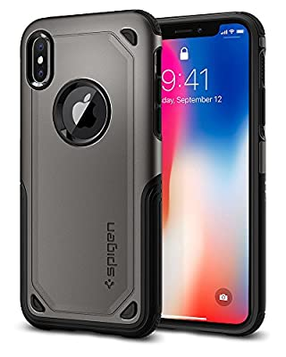 Spigen Hybrid Armor iPhone X Case with Air Cushion Technology and Secure Grip Drop Protection for iPhone X (2017)