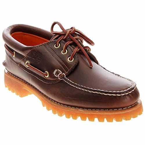 Pull Lug Up Brown Shoes Men's Timberland Leather Boat F4X8A1nwq