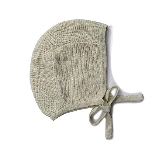 Baby Toddler 100% Cotton Knit Hat Bonnet Pilot Neutral Light Green Pastel