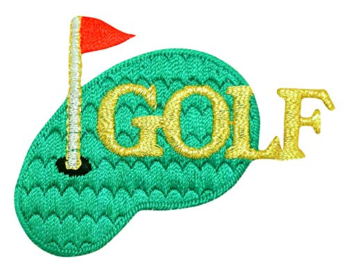 Golf Green - Flag - Iron on Applique/Embroidered Patch