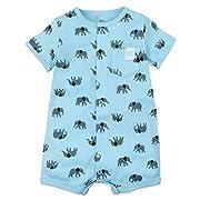 Kidsform Baby Boy Romper Summer Short Sleeve Bodysuit Sleep and Play Jumpsuit Animal Outfit Elephant 3-6M