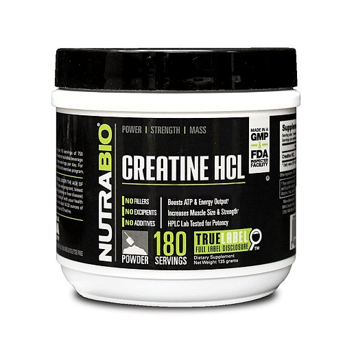 NutraBio Creatine HCL 135 g