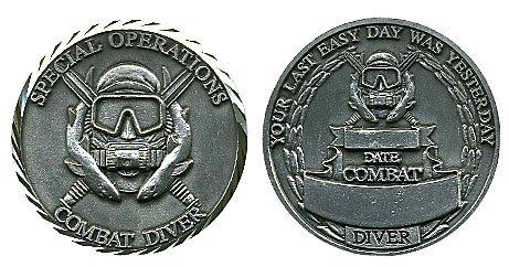 Special Operations Combat Diver Challenge Coin (Challenge Diver Coin)