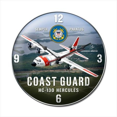 Past Time Signs LM013 Coast Guard C130 Aviation Clock