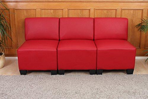 Divano Rosso Ecopelle : Sistema modulare lione n71 salotto ecopelle divano 3 posti senza