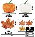 DomeStar Artificial Pumpkins, 12PCS Mini Fake