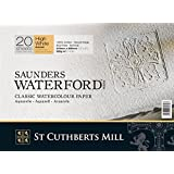 Saunders Waterford : High White Waterford Paper Block 12x16in Rough