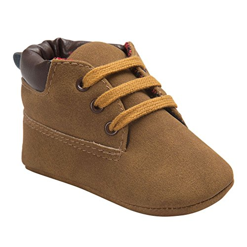 Weixinbuy Baby Boys Soft Sole Lacing Up Shoe Warm Snow Short Boots