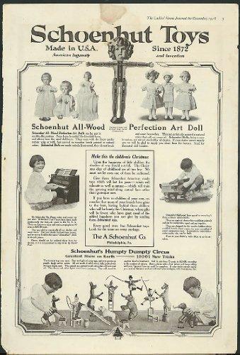 Schoenhut Toys art doll piano Modlwood Humpty Dumpty Circus 1918 (Circus Schoenhut)