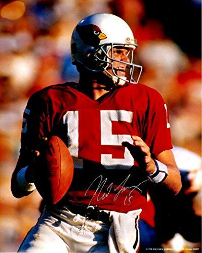 Autographed Neil Lomax 8x10 St Louis Cardinals Photo.