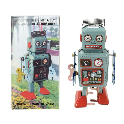 Off the Wall Toys Retro Classic Wind-up Robot