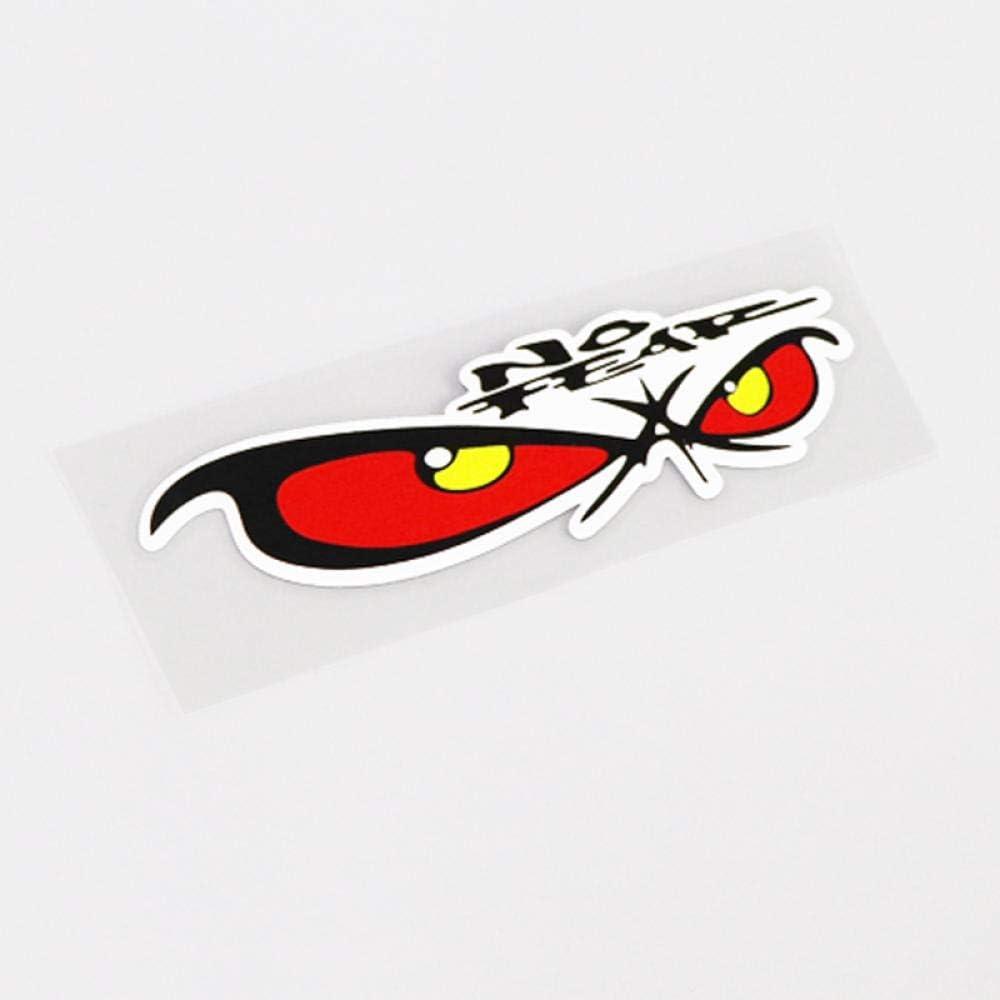 CSCH Coche Pegatina 11.7Cm x 3.3Cm Funny No Fear Eyes Impermeable Car Styling Car Stickers Calcoman/ía PVC