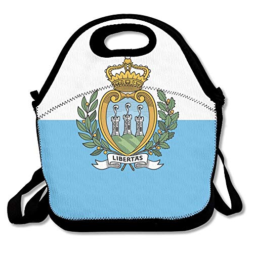 (SAN Marino Flag Outdoor Lunch Bag Lunch Box Thermal Insulated Cooler Lunch Pouch Picnic Bag For School Gift)