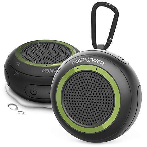 Waterproof Bluetooth Speaker IPX7 (2 Pack), FosPower Outdoor Portable Shower Wireless Speakers with 10 Hours Playtime, HD Audio, Enhanced Bass, Built-in Mic, Bluetooth 4.2, TWS Mode and TF Card Slot