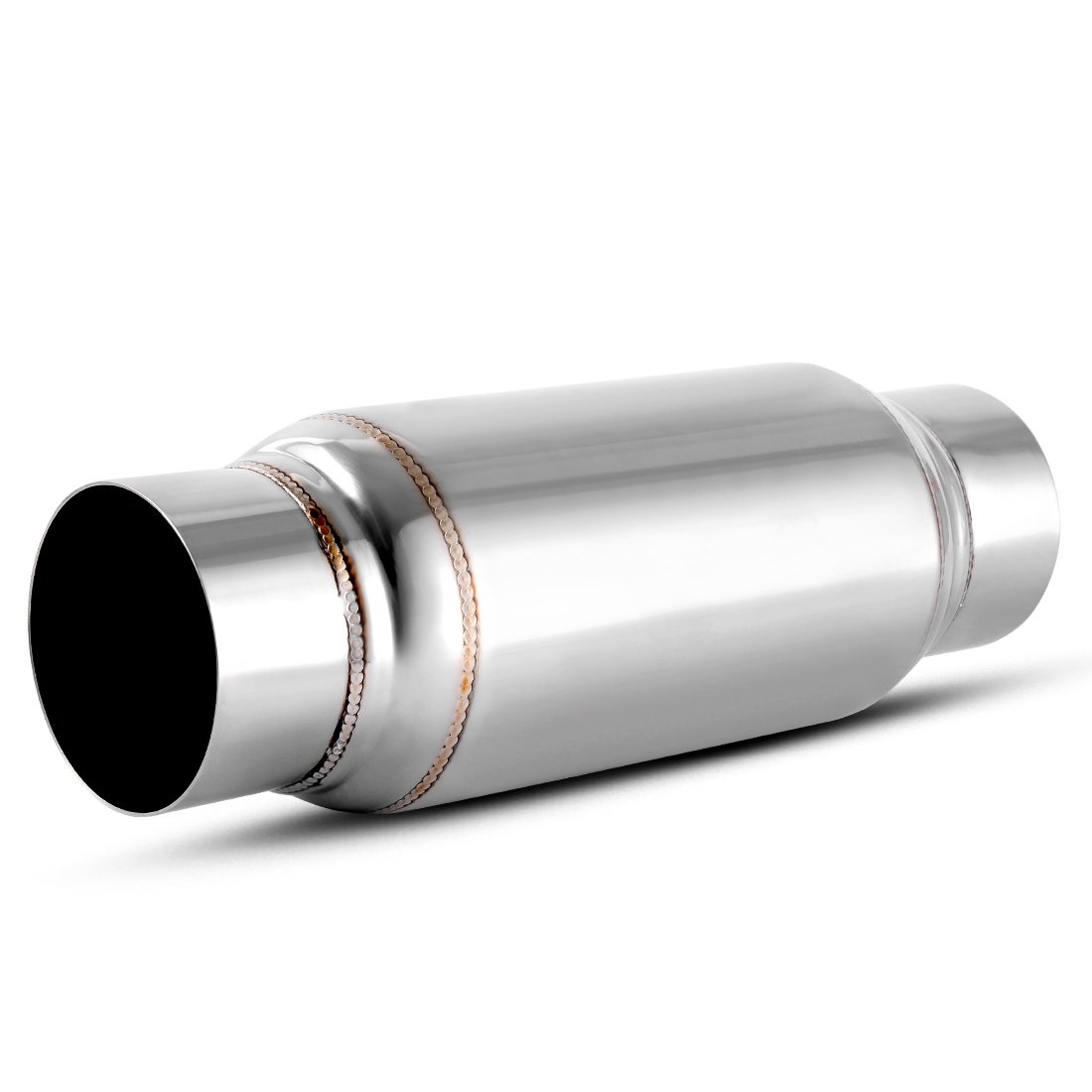 3 Inch Inside Inlet Muffler, AUTOSAVER88 Universal Stainless Steel Welded Exhaust Muffler Deep Sound for Cars, 14' Overall Length. 14 Overall Length.
