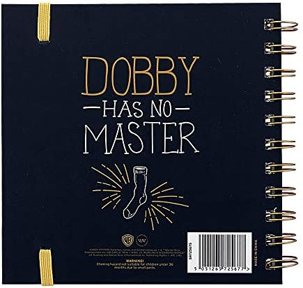 Echter Harry Potter Dobby House Elf Square Hardcover Notizbuch Papier Notizblock Hogwarts